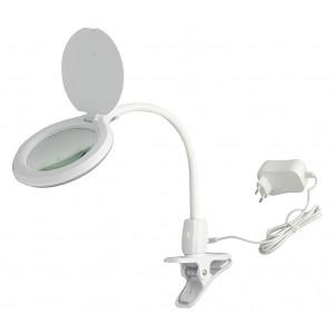 Лампа-лупа настольная на прищепке 2014R LED 3D